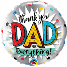 "Thank You Dad For Everything Foil Balloon (18"") 1pc"